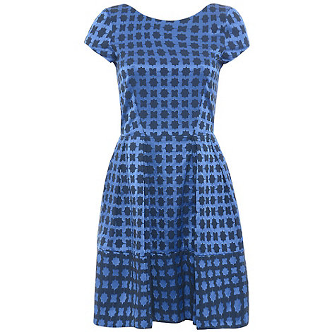 Closet - Blue v back geo shape dress