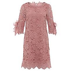 Jolie Moi - Mauve crochet lace smock dress
