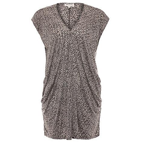 Threads - Grey drape side jersey dress