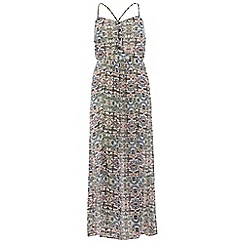 Poppy Lux - Multicoloured crystal maxi dress