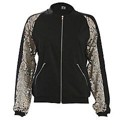 Poppy Lux - Black cassie bomber jacket