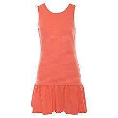 Madam Rage - Light pink rib drop waist dress