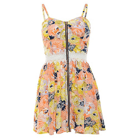 Madam Rage - Multicoloured sketchy floral dress