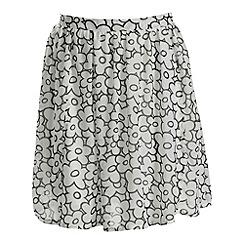 Cutie - White daisy print skirt