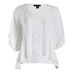 Cutie - White loose fit border detail blouse