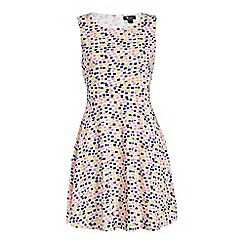 Cutie - Cream squares detail print dress
