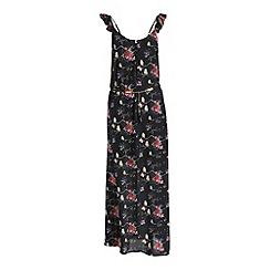 Cutie - Black floral print maxi dress