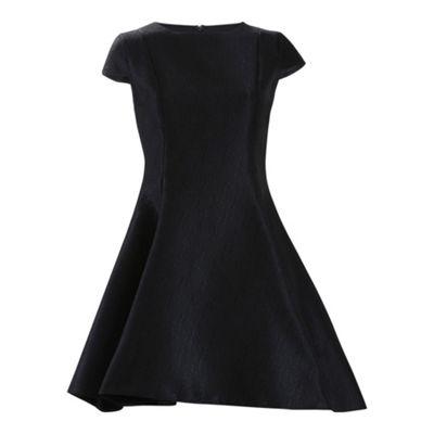 Alice & You Black cap sleeve prom dress - . -