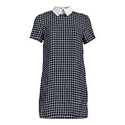 Alice & You - Navy contrast collar shift dress