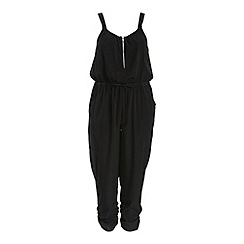 Threads - Black zip front jumpsuit