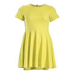 Threads - Yellow cut out back skater dress