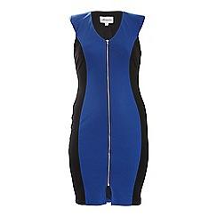 Threads - Blue zip front bodycon dress