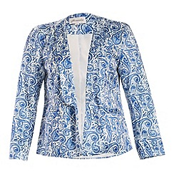 Threads - Blue curve collar blazer