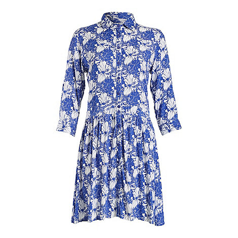 Ruby Rocks - Blue maddie shirt dress