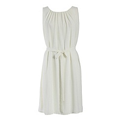 Cutie - Cream belted ribbon dress