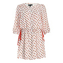 Cutie - Red elephant print dress