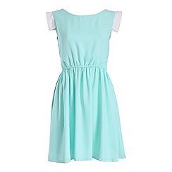 Cutie - Green waisted pastel dress