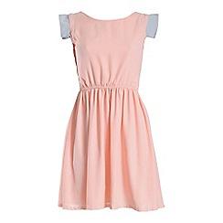 Cutie - Pink waisted pastel dress