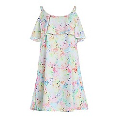 Cutie - Green water colour print dress