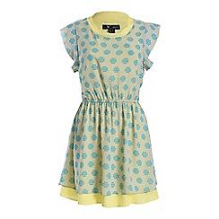 Cutie - Yellow pastel pixel print dress