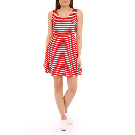 Sugarhill Boutique - Red georgia striped skater dress