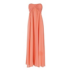 Alice & You - Peach ruched bandeau maxi dress