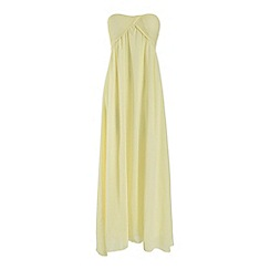 Alice & You - Yellow ruched bandeau maxi dress