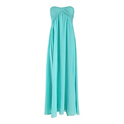 Alice & You - Blue ruched bandeau maxi dress