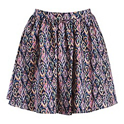 Poppy Lux - Multicoloured aztec skirt
