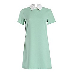 Alice & You - Green contrast collar shift dress