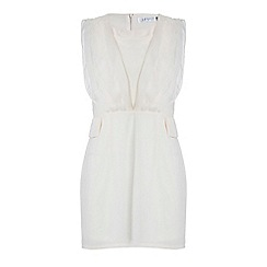 Jumpo London - Cream chiffon wrap effect sleeveless dress