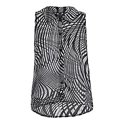 Cutie - Black abstract stripes top