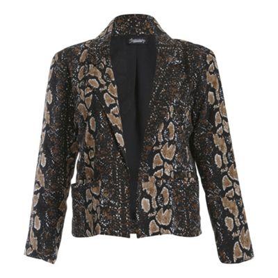 Ayarisa Black animal becky loose fit jacket - . -