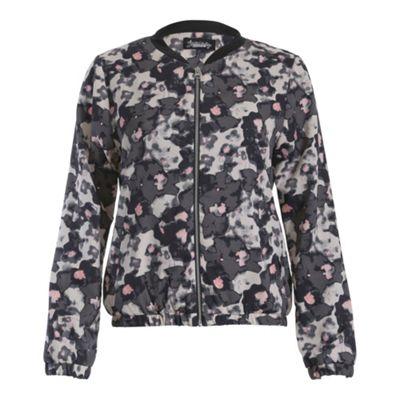 Ayarisa Black pink ladies bomber jacket - . -