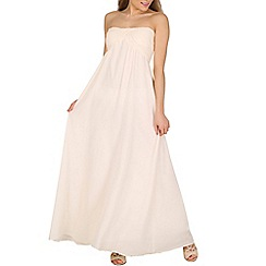 Alice & You - Cream ruched bandeau maxi dress
