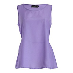 Pussycat London - Lilac crepe de chine top