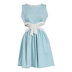 Cutie - Aqua cut out dress with bow