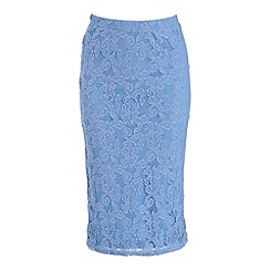 Alice & You - Cornflower blue lace pencil skirt