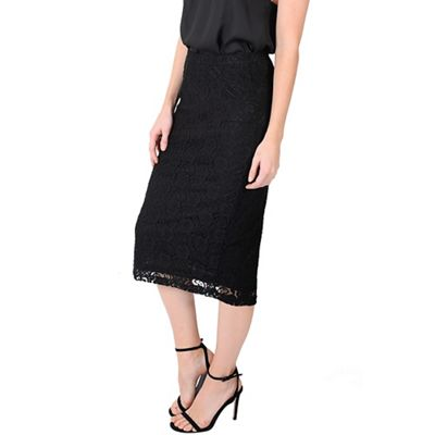 Alice & You Black lace pencil skirt - . -