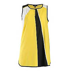 Samya - Yellow sleeveless contrast dress