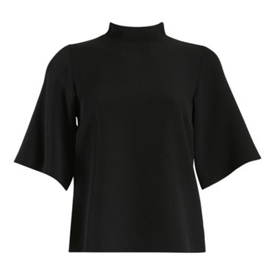 Black closet collar blouse - . -