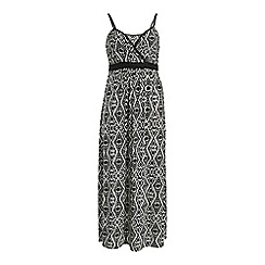 Samya - Black straps geomentric maxi dress
