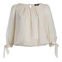Cutie - Cream spot blouse
