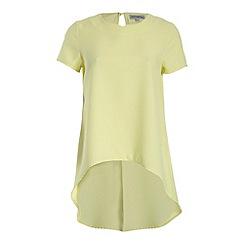 Alice & You - Yellow dip hem back split blouse