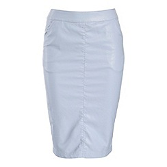 Alice & You - Light blue pu pencil skirt