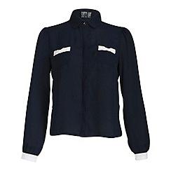 Poppy Lux - Navy monica blouse