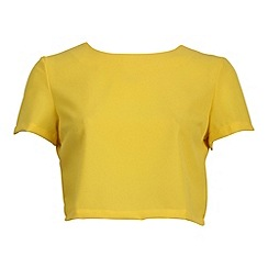Alice & You - Yellow short sleeve cropped blouse