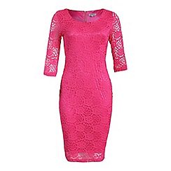 Alice & You - Pink lace layer midi dress