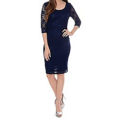 Alice & You - Navy lace layer midi dress