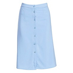 Alice & You - Blue button detail midi skirt
